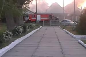 В Мелитополе на пожаре пострадала женщина