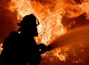 Пожар в Мелитополе