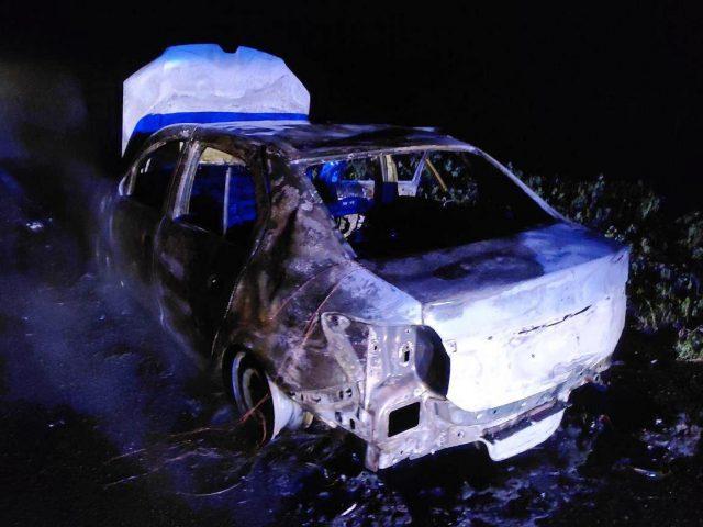 На трассе возле Мелитополя сгорело авто